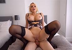 Sensuele seks les van bloedmooie blondine